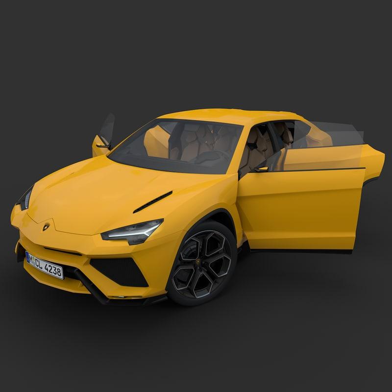 3D lamborghini urus model