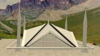3D faisal mosque model
