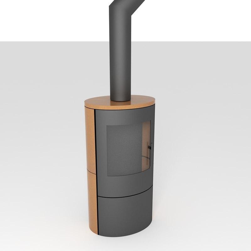romotop evora stove ceramic 3D model