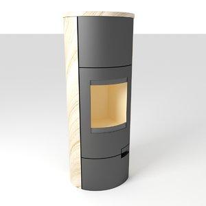 3D model romotop lugo stove fireplace