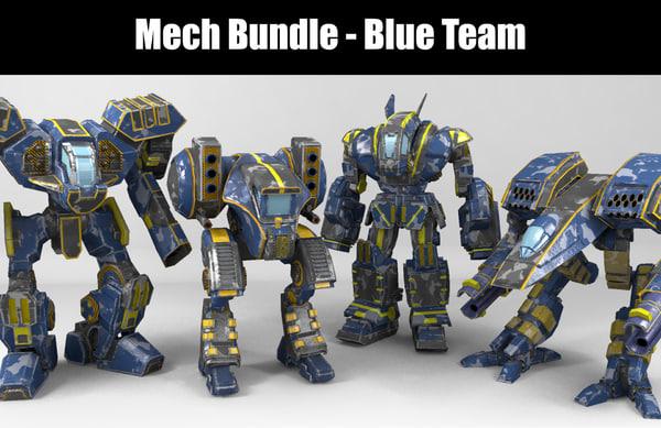 mech blue team model