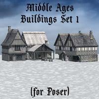 3D set build 1 poser model