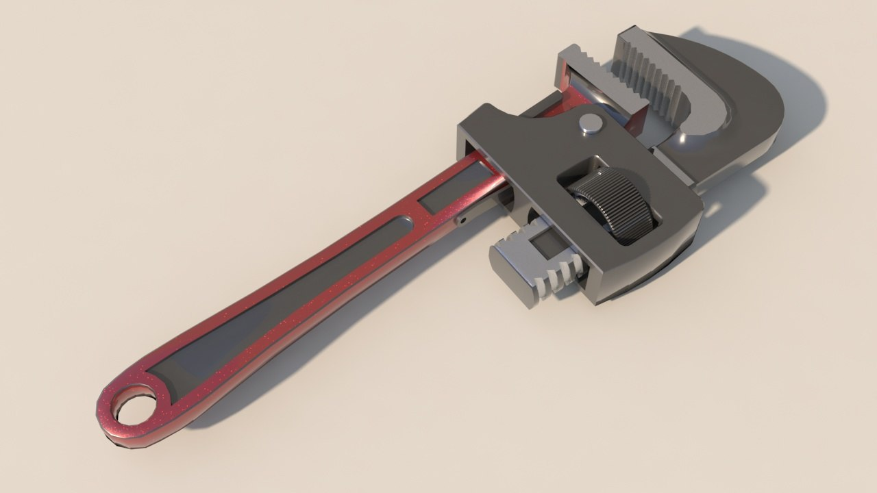 pipe wrench 3D model