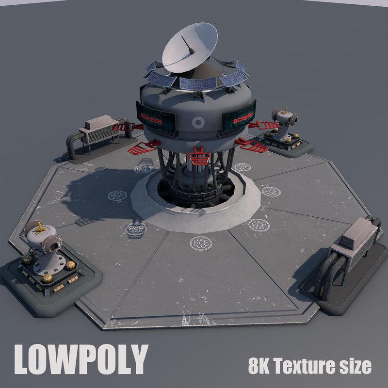 3D scifi station
