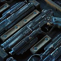 gun scifi - pbr 3D