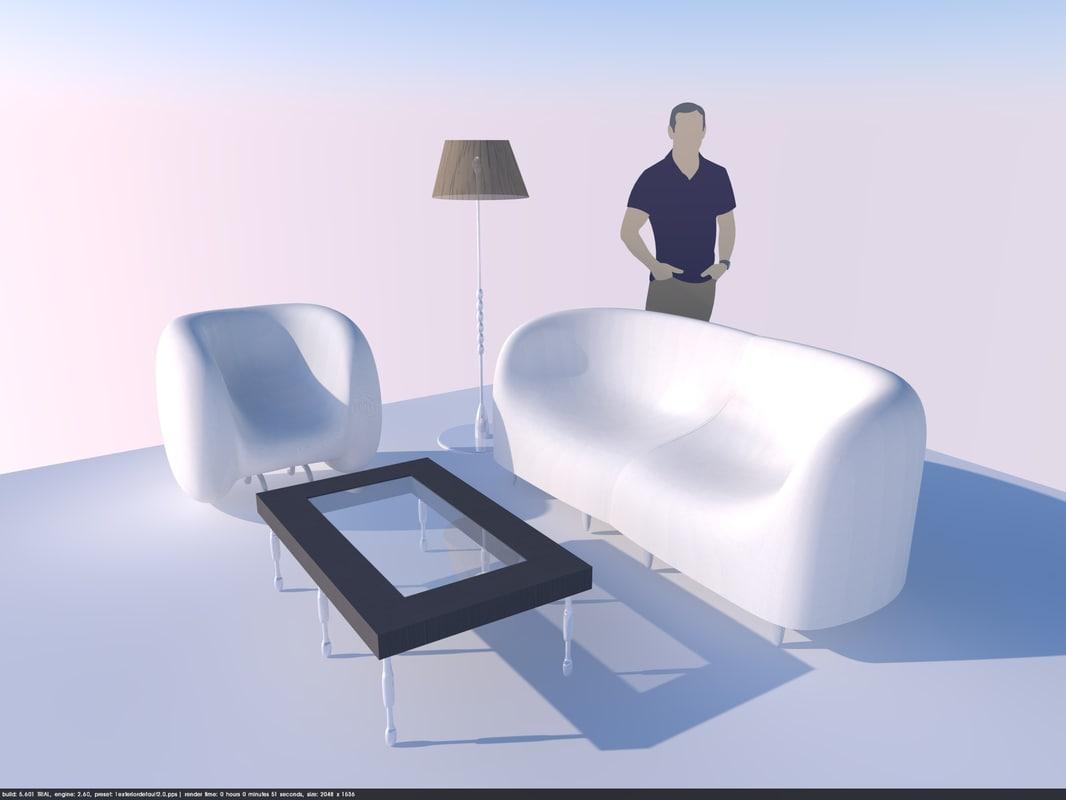 set furniture chair 3D model