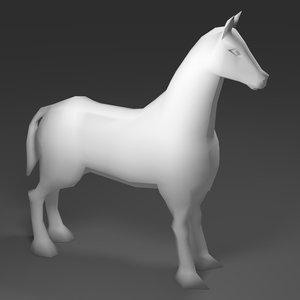 3D horse mesh