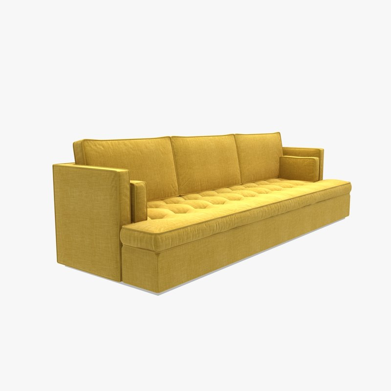 sofa red fox yellow 3D model