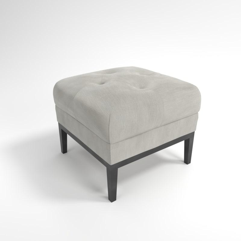 interior eichholtz stool cesare 3D model