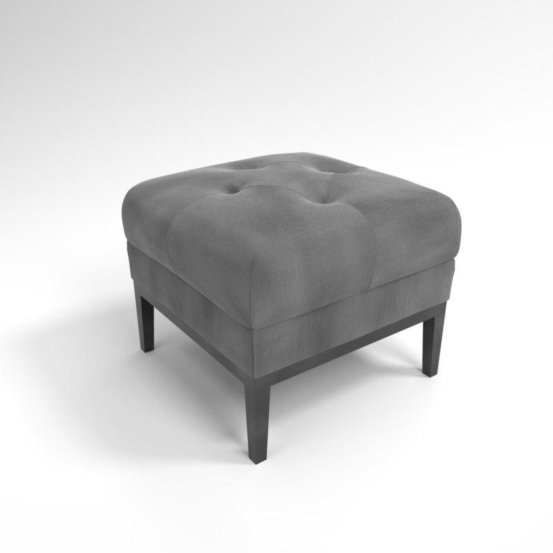 interior eichholtz stool cesare 3D