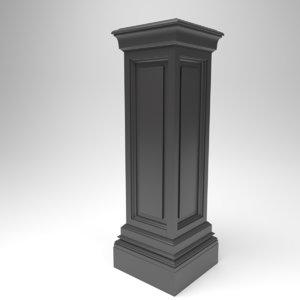 3D interior eichholtz salvatore column