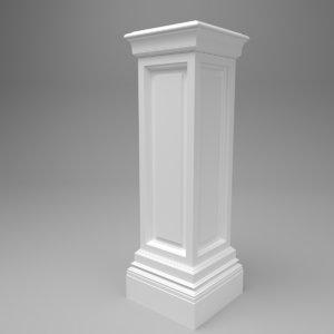 interior eichholtz salvatore column 3D model