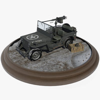 american willys jeep 3D model