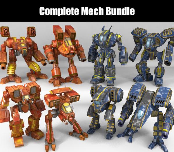 mech bundles 3D model