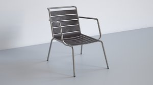 3D metal chair