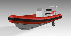 3D dinghy model