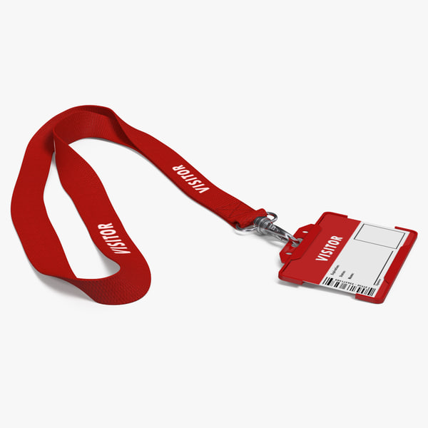 3D visitor lanyard plastic id