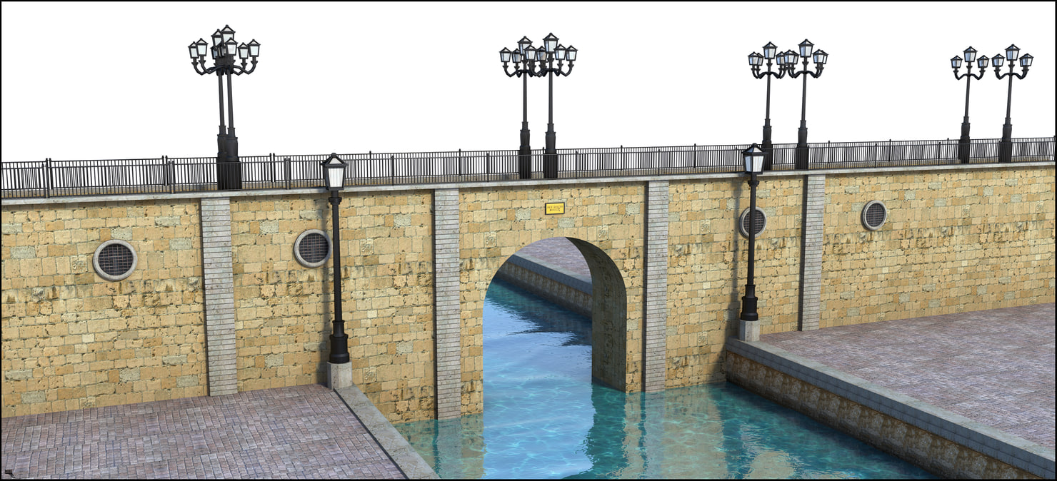bridge structure 3D model