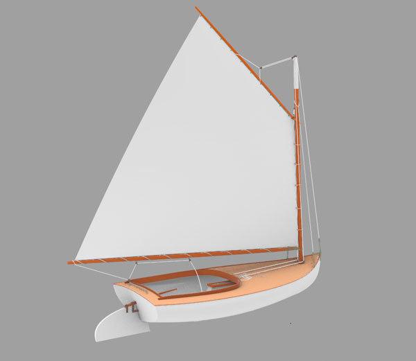 beetlecat sailboat boat 3D model