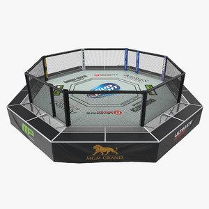 ufc fighting arena 3D model