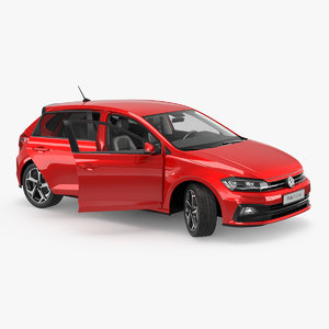 volkswagen polo 2018 rigged 3D model