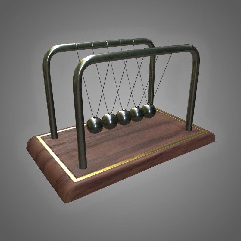 newton s cradle - 3D model