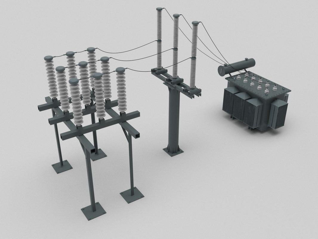 substation 3D