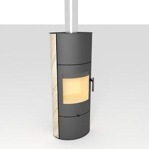 romotop evora akum stove 3D model