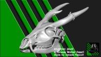 Muntjac Skull (Chinese water deer) [For 3D Print]