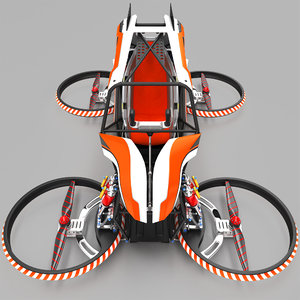 quadcopter flying vehicle 3D model