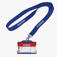 student id card holder 3D model