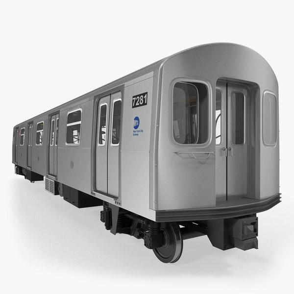 3D model subway passanger wagon r160