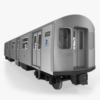 3D model subway passanger wagon r160