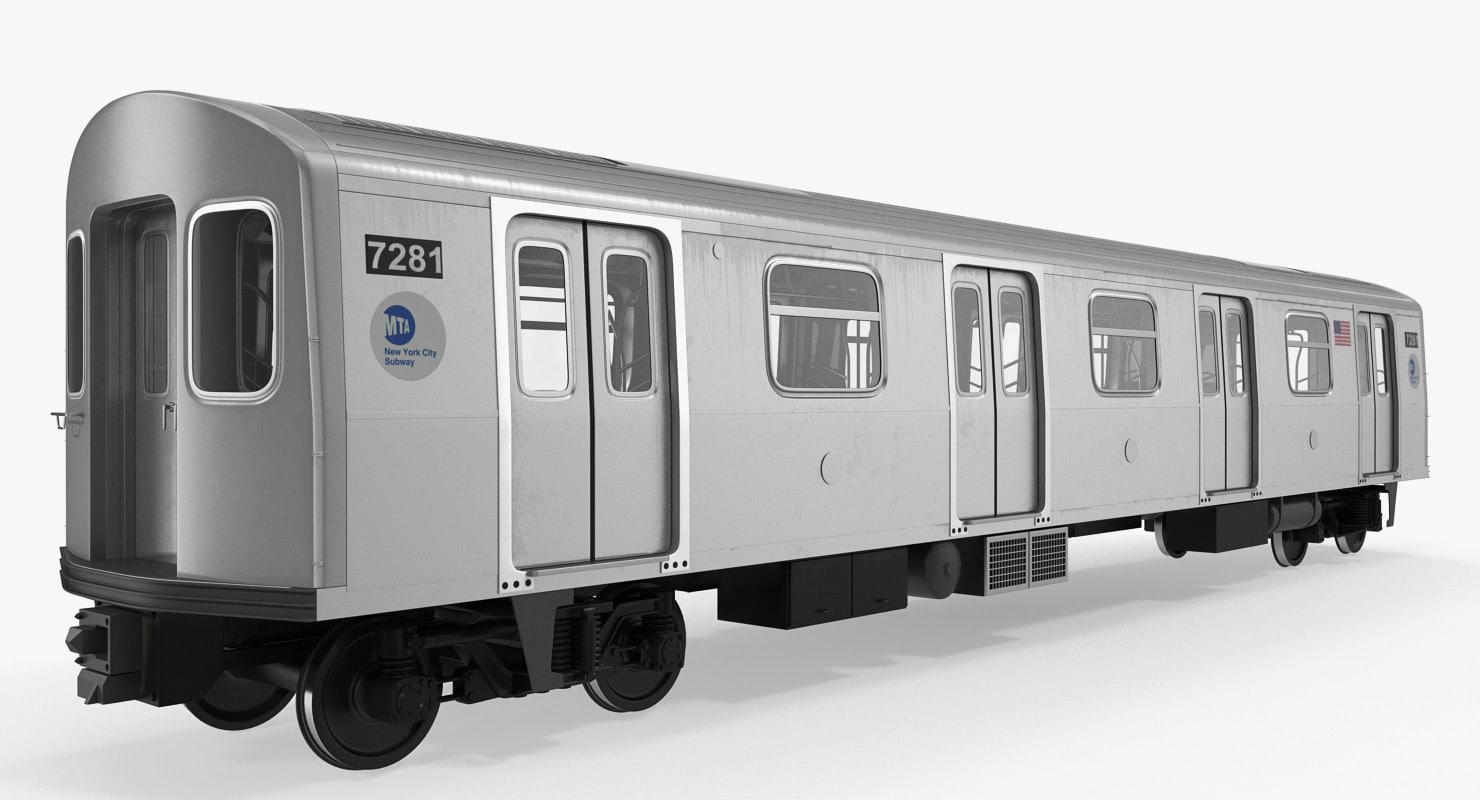 Subway Passanger Wagon R160 Rigged
