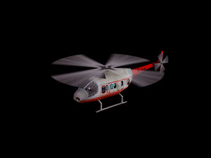 3D helicopter 346
