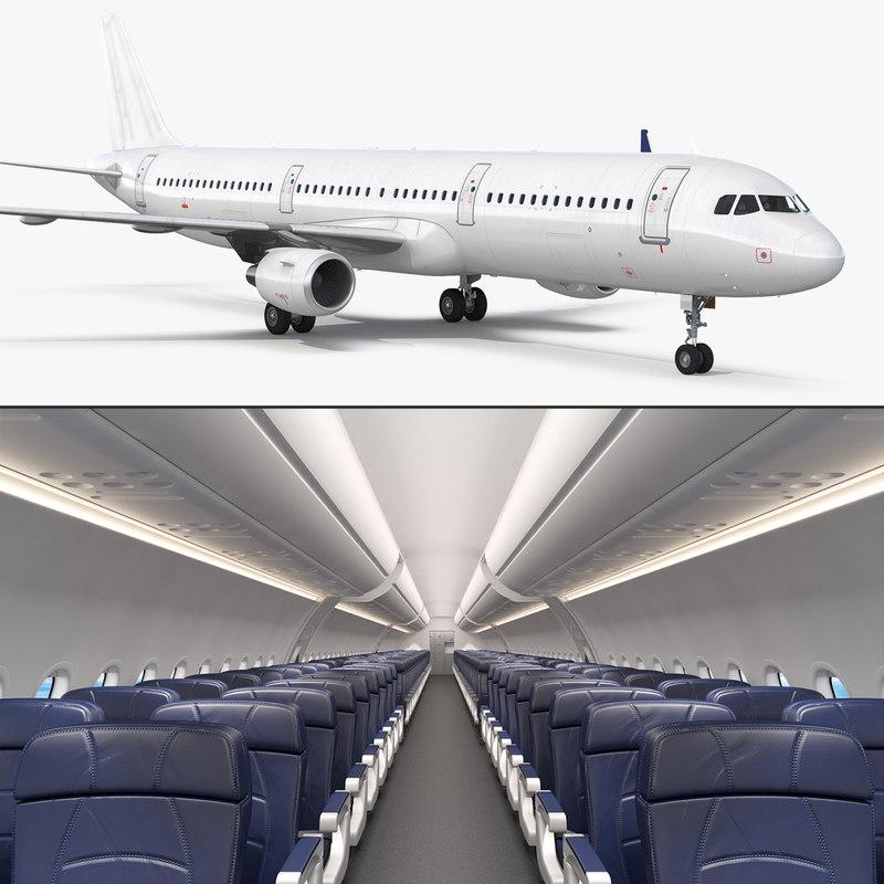 Airbus A321 Generic Interior 3d Model Turbosquid 1255225