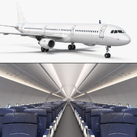 airbus a321 generic interior 3D model