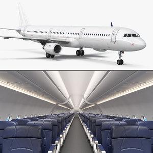 airbus a321 generic interior 3D model