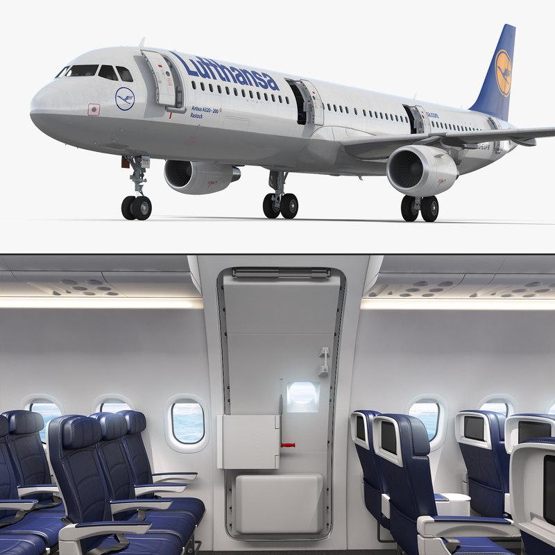 Airbus A321 Lufthansa Interior 3d Model Turbosquid 1255231