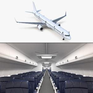 3D boeing 757-300 generic cabin