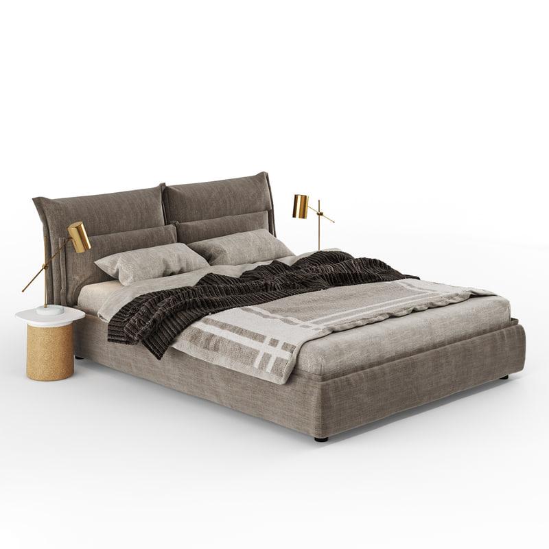 3D model bed dorelan somnia d
