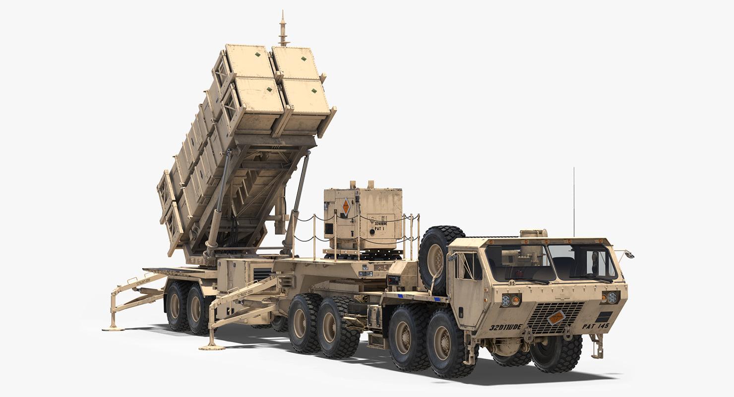 mim-104 patriot surface air missile 3D