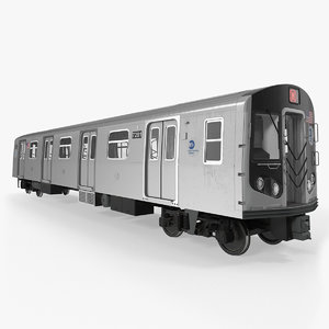 new york city subway car 3D model