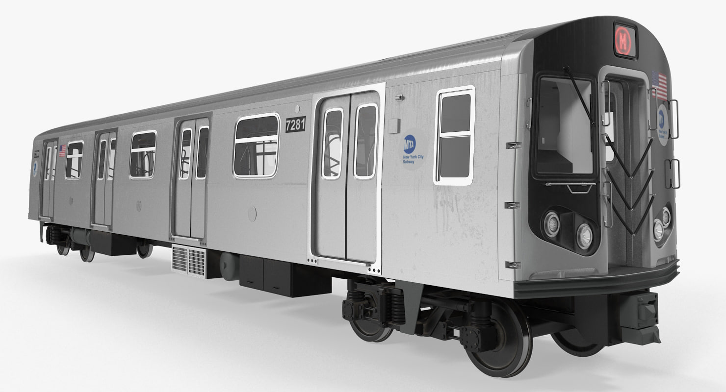 new york city subway car 3D model