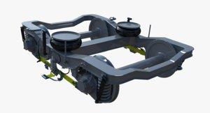 3D metro bogie model