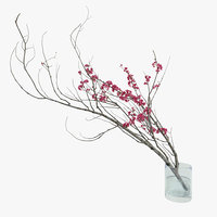 Decorative branch with flowers of sakura