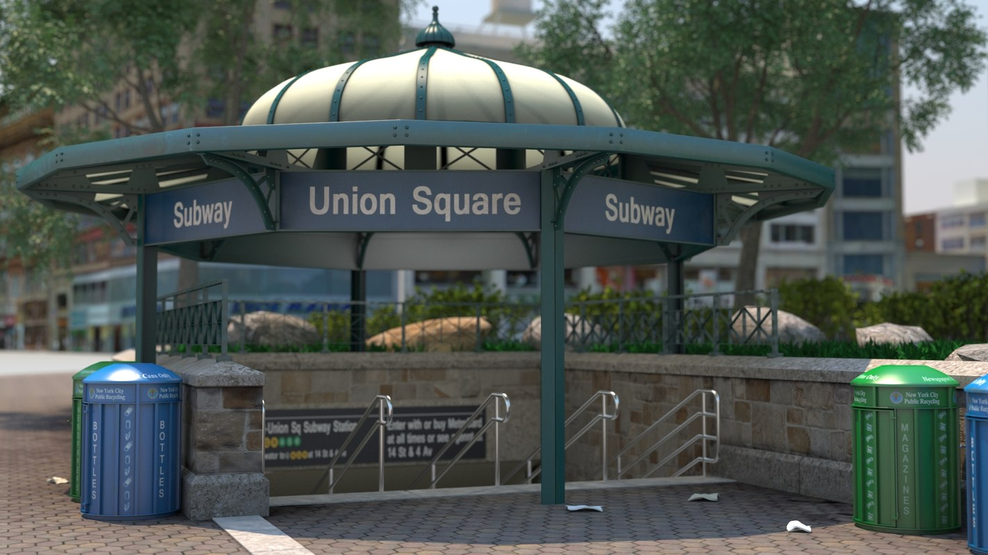nyc: union square - 3D model
