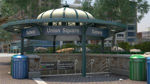 nyc: union square - 3D model