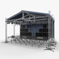 concert scene equipment model