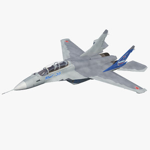 fighter mikoyan mig-35 fulcrum 3D model